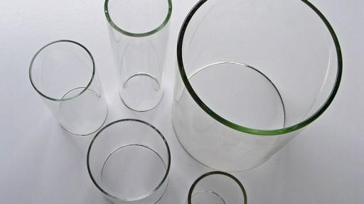 Glaszylinder aus hitzebeständigem Borosilikatglas